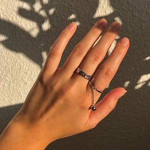 Handgemachter Schmuck Globe Ring