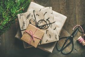 Geschenke verpackt