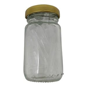 Menthokristalle im Glas
